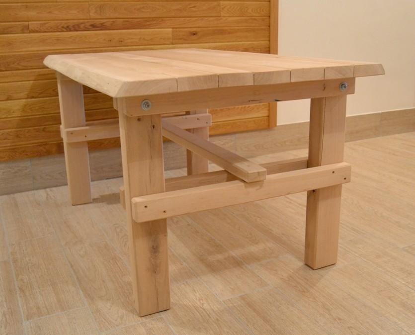 0fca559b7064 ... Dubový záhradný stôl - bez povrchovej úpravy ...