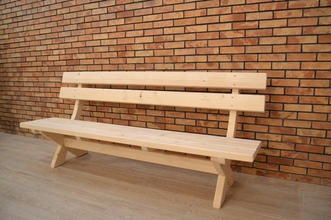 Záhradná lavica 200 cm z masívu