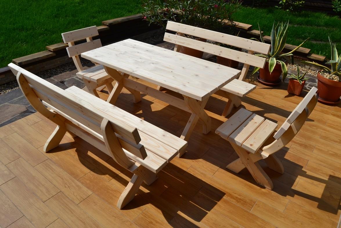 Záhradný nábytok z dreva / záhradné sedenie