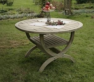 okruhlý záhradný stôl