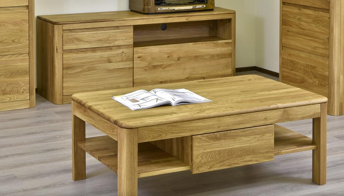 Moderný dubový nábytok do obývačky masív