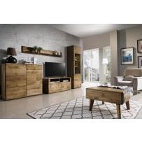 Nábytok do obývačky dub paleny