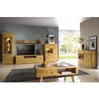 Dubový nábytok do obývačky (zostava TEXAS 3 )OLEJ aj DUB PÁLENY