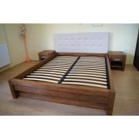 Manželská posteľ s úložným priestorom  (čelo ekokoža 160 a 180 x 200)