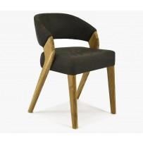 Dizajnová stolička, Almondo hera Dunkelbrown