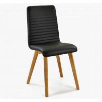 Stolička pravá koža čierna