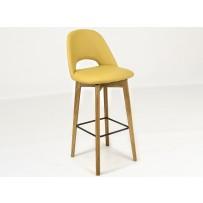 Barová stolička pravá koža