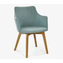 Jedálenska stolička s podrúčkami mätová BELLA  (soro 34)