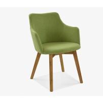 Jedálenska stolička s podrúčkami  BELLA ,orion 110 zelená