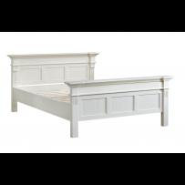 Biela Manželská  rustikálna posteľ 160 x 200