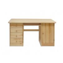 Borovicový písací stôl