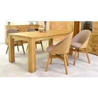 Jedálenský stôl a prémiové stoličky  (pre 4 až 6 osôb dub masív)