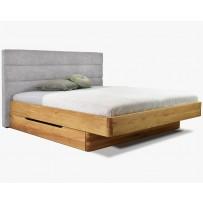 Dubová posteľ s vysokým čalúneným čelom, Dominika