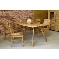 Moderný jedálenský set z dreva