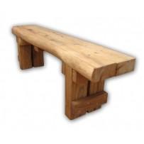 Záhradná lavička z dubového dreva