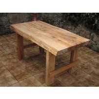 Dubový záhradný stôl 150 cm (hrúbka masívu 7 cm)