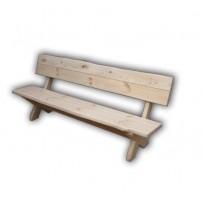 Drevená záhradná lavica