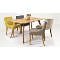Jedálenský set pre 4 osoby (stôl GOLEM + Možnosť výberu látky na stoličke )