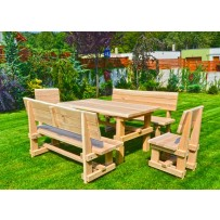 Drevený dubový záhradný nábytok / Záhradné sedenie hrúbka 4,5 cm