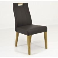 Kvalitná stolička z pravej kože - tmavohnedá