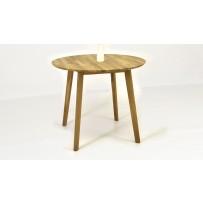 Dubový stôl THOMAS (priemer 90 cm) AKCIA