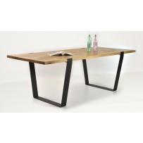 Dubový stôl Medved (divoky dub rustik)