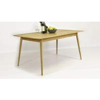 Retro stôl z dubového dreva do jedálne 160 x 90