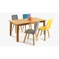 Pevný dubový stôl do jedálne a stoličky arosa