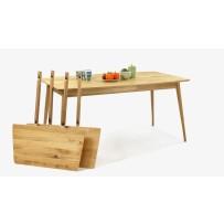 Dubový stôl do jedálne (2 x Nadstavec na predĺženie)