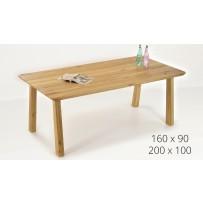 Drevený dubový stôl do jedálne TINA(160 x 90 , 200 x 100)