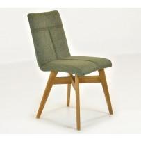 Stolička do jedálne arona - jemný zelený tón látky