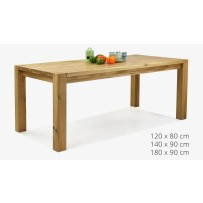 Masívny rodinný dubový stôl (120 x 80, 140 x 90, 180 x 90 Košice )