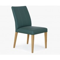 Moderná kožená jedálenská stolička v retro štýle  (Klaudia)