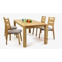 Pevný stôl do jedálne a pohodlné stoličky VIRGINIA