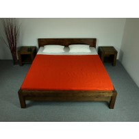 Manželská posteľ z dreva (160x200) model L 5 orech