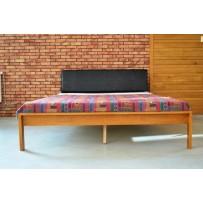 Lacná manželská posteľ  (vintage štýl dub)