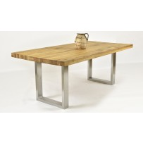 Dubový stôl Linda 180  - ocelové nohy
