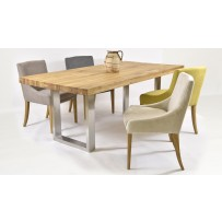 Jedálenský set do obývačky  (200 x 100 alebo 240 x 100) Výber farby stoličky