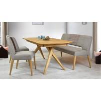 Jedálenský set Nantes (Stôl, lavica, 2 x stolička)