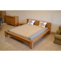 Masívna posteľ z dreva (rossi - dub 200 x 200)