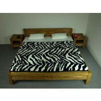 Manželská posteľ farba dub