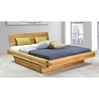 Dubová posteľ z hranolov Matuš (160 x 200 a 180 x 200)