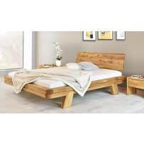 Stabilná trámová posteľ z čistého dubového dreva MIA