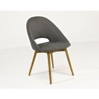 Moderná jedálenská stolička v retro štýle  (LOTOS) oceľovo šedá