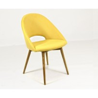 Moderná jedálenská stolička v retro štýle  (LOTOS) žltá farba