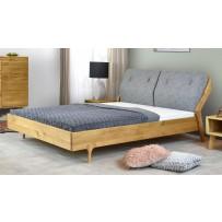 Dubová posteľ , retro dizajn čalunené čelo pri hlave