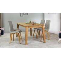 Dubový stôl MIREK ( 160 x 90 cm) +  jedálenské stoličky AROSA