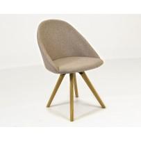 Moderná jedálenská stolička v retro štýle  (STATIV) slabo hnedá farba