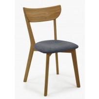 Jedálenská dubová stolička EVA antracitová