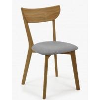 Jedálenská dubová stolička EVA sivá